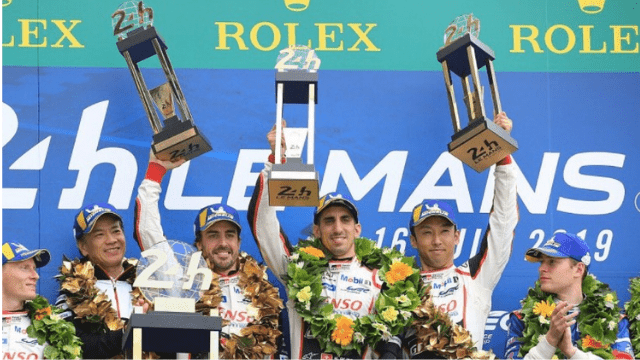 Le Mans F1 Drivers wining